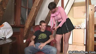 Cock hungry granny seduces her son in law