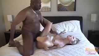 Mandy monroe &amp big max horny wife bbc creampie