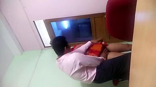 Sexy Indian Office Girl Playing With Boss