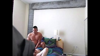Adopted Asian Son Dominates His Dad