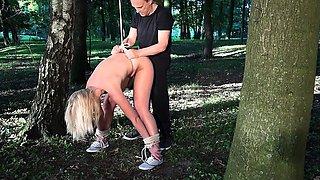 Bdsm slave tied rough fucked blowjob bondage