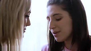 Abella Danger  Brandi Love Passionate Tribbing and Kissing