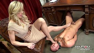 Submissive servant and his hot busty mistress Brandi Love