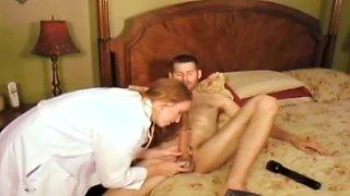 Big boob redhead nurse fucks her patient