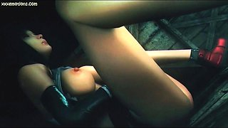 Animated hottie gets pussy fingered and licke