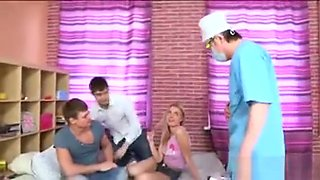 Physician Assists With Hymen Physical And Defloration Of Vir