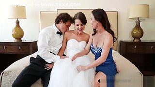 Hot Milf Diamond Foxx And Teen Bride Get Their Cunts Railed