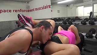 Hot fuck in the gym!