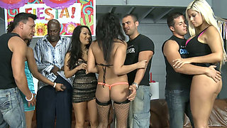 A totally insane orgy with a bunch of sizzling hot nymphos