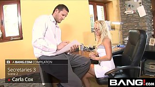 bangcom busty office babes take a big cock