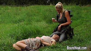 Slave Huntress II Blonde Lesbian On The Hunt