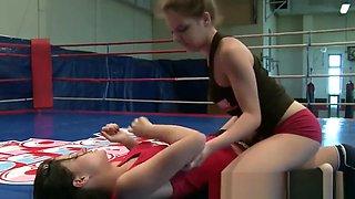 Wrestling Lesbian Fingered In Tight Asshole