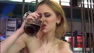 Drunk german girl fucked on dance floor