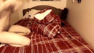 Dildo Masturbation @ Bedroom